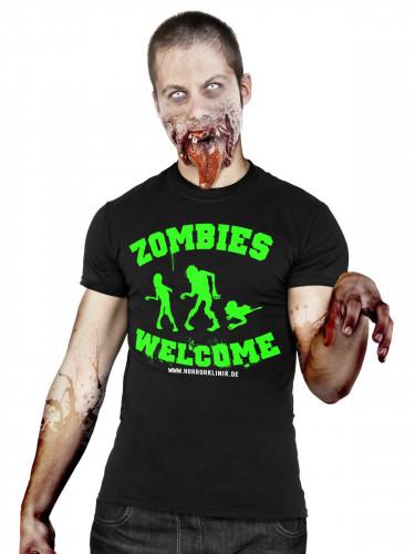 Zombies Welcome T-Shirt schwarz-grün-weiss