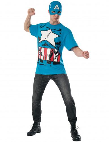 Captain America™-Kostüm für Herren blau-weiss