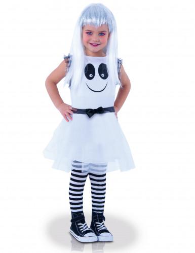 Geister-Kleid Halloween-Kinderkostüm weiss-schwarz