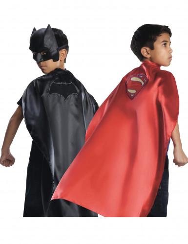 Batman™ VS Superman™ Umhang wendbar schwarz-rot 82cm