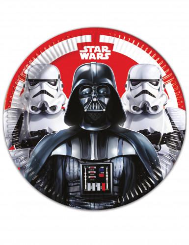 Star Wars Final Battle™ Pappteller-Set schwarz-weiss-rot 23cm