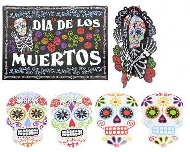 Dia de los Muertos Halloween-Dekoset 7-teilig bunt