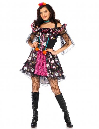 Dia de los Muertos-Kostüm für Damen bunt