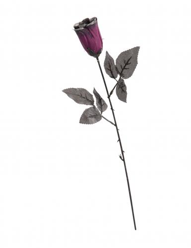 Gothic-Rose mit Pailletten Halloween-Partydeko schwarz