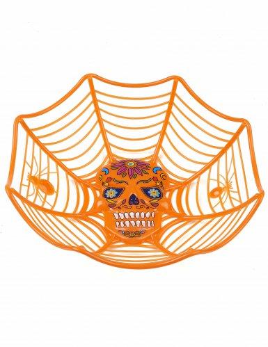 Dia de los Muertos Schüssel Halloween-Tischdeko orange-bunt 26cm