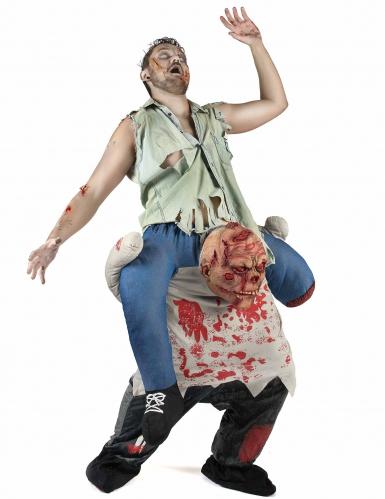 Schauriger Zombie Carry Me Halloweenkostüm für Herren bunt-1