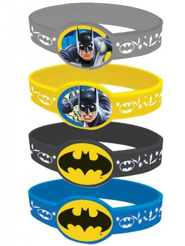 Batman™-Armbänder 4 Stück bunt