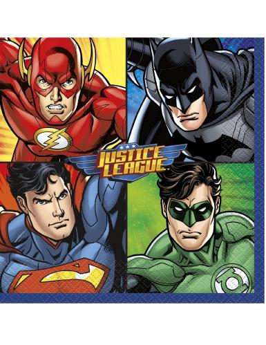 Justice League™-Papierservietten 16 Stück bunt 33 x 33 cm