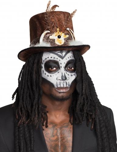 Voodoo-Hut mit Dreadlocks braun