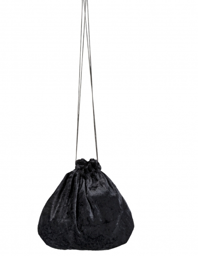Kleiner Samtbeutel Kostümzubehör schwarz