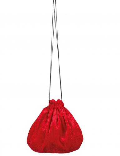Kleiner Samtbeutel Kostümzubehör rot