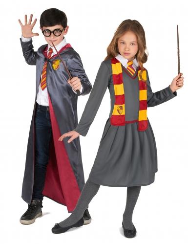 Kleine Zauberlehrlinge Paarkostüm für Kinder bunt