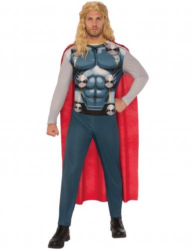 Klassisches Thor™-Kostüm für Herren Halloween-Kostüm grau-rot