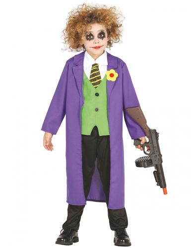 Joker-Kostüm für Kinder Clown-Kinderkostüm bunt