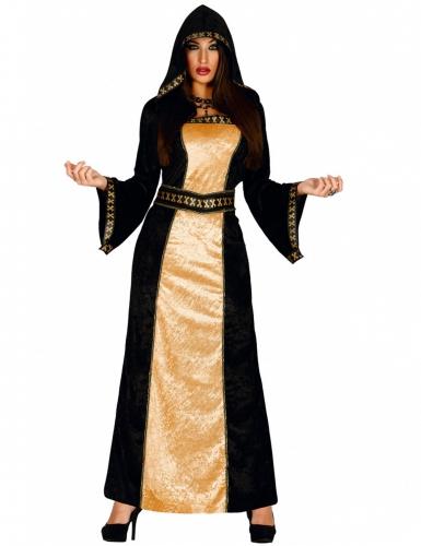 Dämonische Gräfin Damenkostüm schwarz-gold