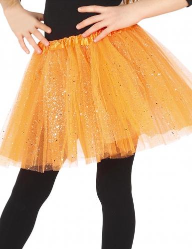 Glitzer-Tutu für Mädchen orange