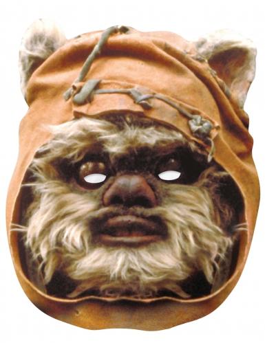 Ewok™-Pappmaske Star Wars™-Lizenzartikel braun