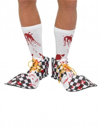 Horror-Clown Überziehschuhe bunt