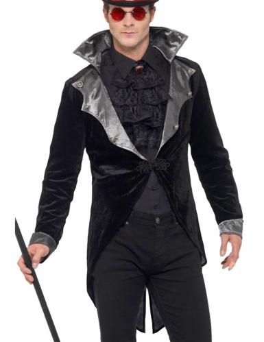 Vampir Frackjacke Herren schwarz-grau