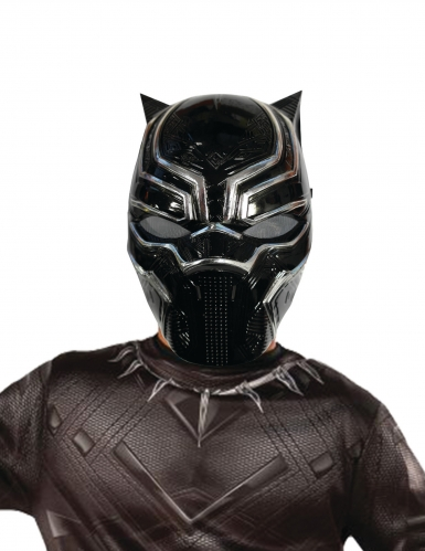 Black Panther™-Lizenzmaske für Kinder schwarz-grau