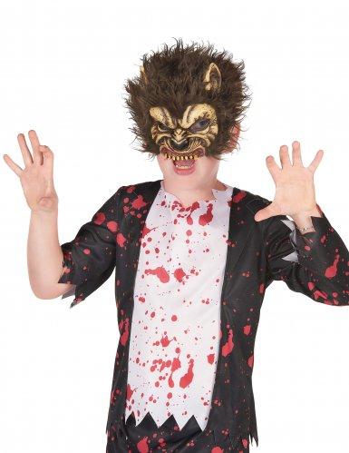 Werwolf-Maske für Kinder beige-braun