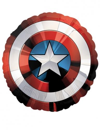 Captain America™-Aluminiumballon rot-weiss-blau