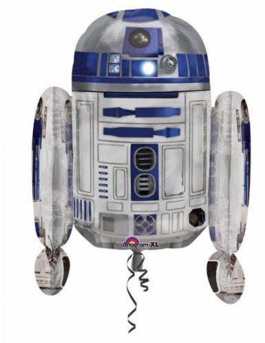 R2D2 Star Wars™-Folienballon silber-blau 55x66cm