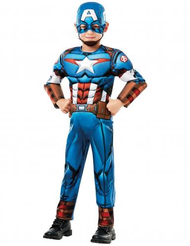 Captain America™-Deluxekostüm für Kinder bunt