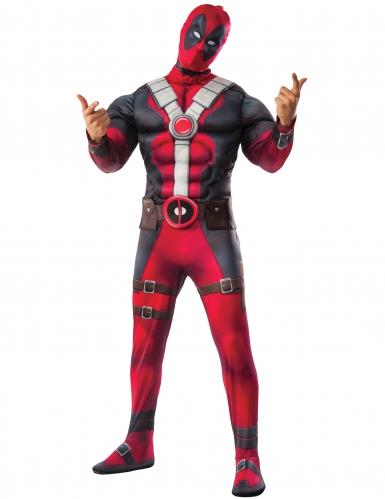 Muskulöses Deadpool™-Kostüm für Erwachsene rot-schawrz