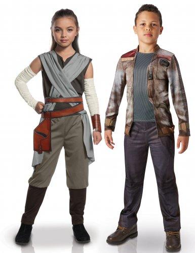Star Wars™-Paarkostüm für Kinder Rey und Finn bunt
