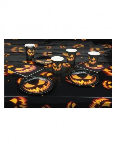 Kürbis-Tischdekoration 4-teilig Halloween schwarz-orange