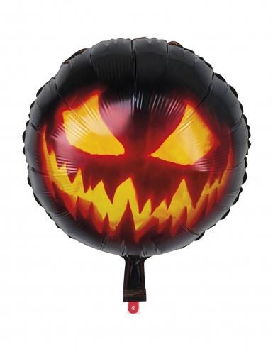 Kürbisballon für Halloween schwarz-orange 45 cm