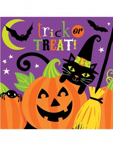 Halloween-Servietten Trick or Treat 16 Stück bunt 33x33cm