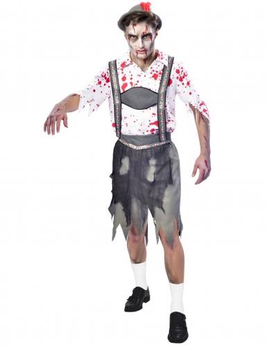 Oktoberfest-Zombiekostüm für Herren an Halloween bunt