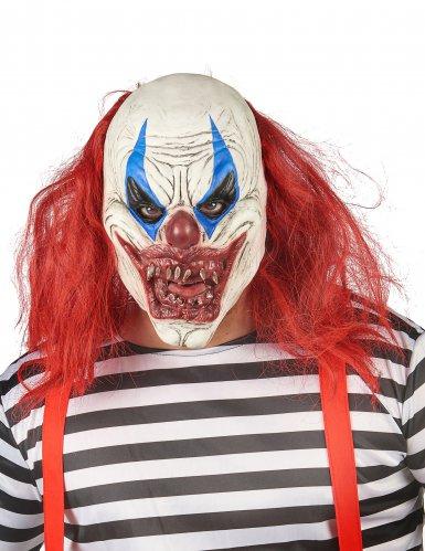 Latex-Horrorclown-Maske für Erwachsene bunt