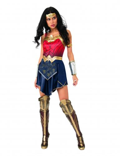 Wonder Woman™-Damenkostüm blau-rot-goldfarben