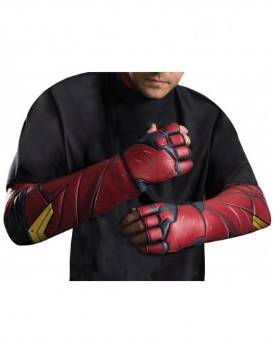 Flash™-Handschuhe für Erwachsene rot-schwarz-gelb