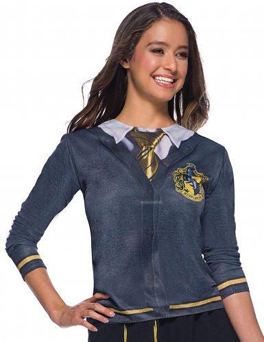 Hufflepuff™ Lizenz-Shirt für Damen grau-gelb