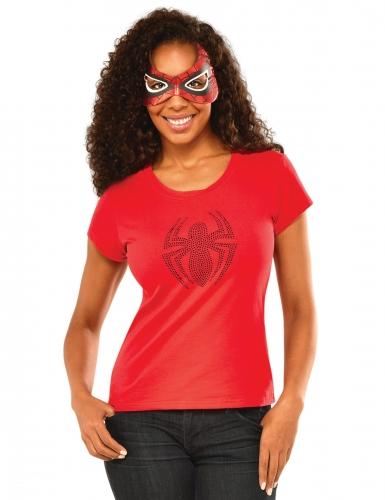 Spider Girl™ Damenkostüm rot-schwarz