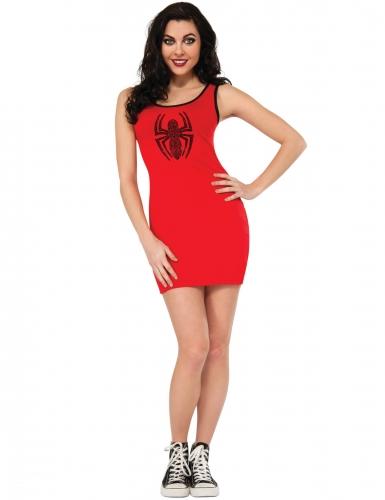 Spidergirl™-Damenkostüm Halloweenkostüm rot-schwarz