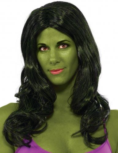 Hulk™-Damenperücke dunkelgrün