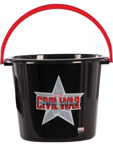 Captain America™ Süßigkeiten-Eimer schwarz-rot-grau