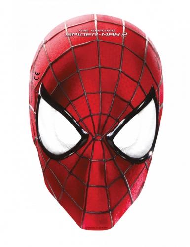 Spider-Man™ Pappmasken 6 Stück rot-schwarz-weiss