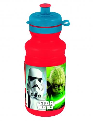 Star Wars™-Trinkflasche Lizenzartikel rot-blau 500ml