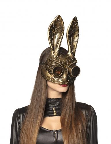 Hase-Maske Steampunk-Accessoire gold