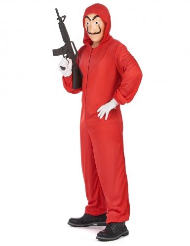 Bankräuber-Kostümset Halloweenkostüm rot-beige