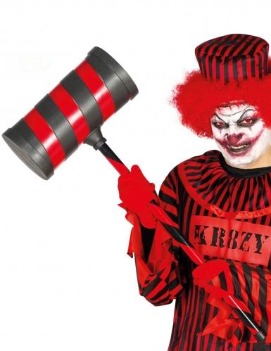 Horrorclown-Hammer Kostümaccessoire schwarz-rot 79 cm
