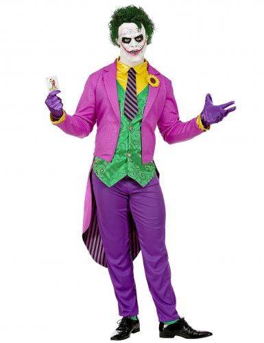 Verrückter Harlekin Herren-Kostüm bunt