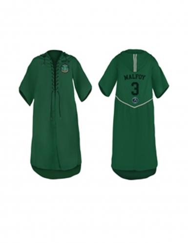 Slytherin-Quidditchtrikot für Kinder grün-weiss-schwarz