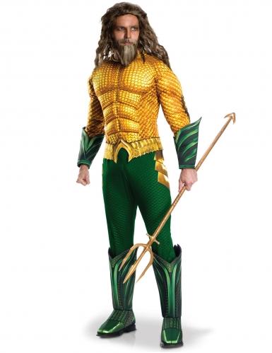 Aquaman™-Kostüm für Herren Halloween-Kostüm grün-gelb